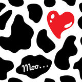 Cow background seamless vector illustration Stock Images