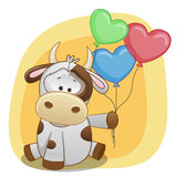 Cow with balloons Stock Image