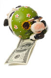 A cow bank Royalty Free Stock Images