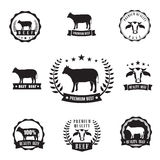 Cow beef sihouette symbol for logo stamp, design element Stock Photo