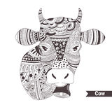 Cow with a bell. Stock Image