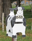 Cow Box. Great farmers letterbox out in the country side Stock Images