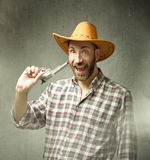 Cow boy with happy expressions Stock Images
