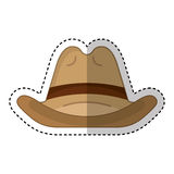 Cow boy hat isolated icon Stock Image