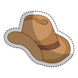 Cow boy hat isolated icon Stock Images