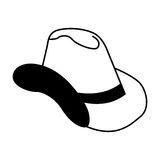 Cow boy hat isolated icon Royalty Free Stock Images