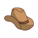 Cow boy hat isolated icon Stock Photos
