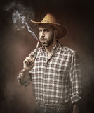 Cow boy and his gun Royalty Free Stock Photography