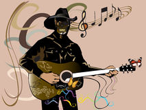 Cow boy night music Stock Photography
