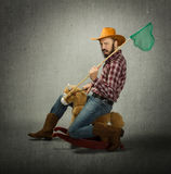 Cow boy ready for hunting Stock Photos