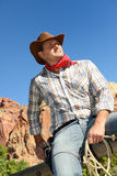 Cow boy spirit Stock Image