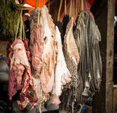 Cow or buffalow skin and guts meat photo taken in bogor jakarta indonesia Royalty Free Stock Photo