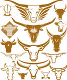 Cow and Bull Head Collection stock illustration