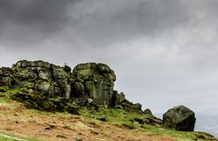 Cow and Calf Rocks royalty free stock images
