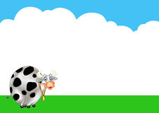 Cow cartoon background Royalty Free Stock Image