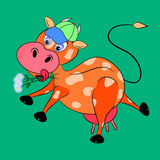 Cow cartoon character. Illustration comic funny Royalty Free Stock Image