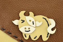 Cow cartoon handmade Royalty Free Stock Photography