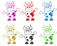 Cow cartoon illustration Royalty Free Stock Image