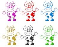 Cow cartoon illustration Royalty Free Stock Image