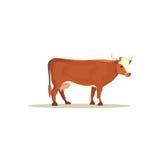 Cow cartoon illustration.  farm cows on white. Cow cartoon illustration.  farm cow Royalty Free Stock Photography