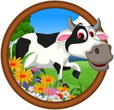Cow cartoon posing Stock Photography