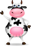 Cow cartoon waving Royalty Free Stock Photo