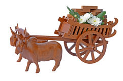 Cow and Carts. Royalty Free Stock Images
