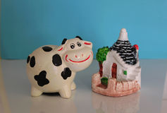 Cow ceramic Royalty Free Stock Images