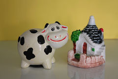 Cow ceramic Royalty Free Stock Photo