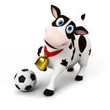Cow character Royalty Free Stock Photo