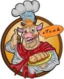 Cow chef stock photo