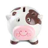 Cow Coin Box Stock Photo
