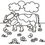 Cow-coloring book Royalty Free Stock Images
