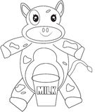 Cow coloring page Stock Photography