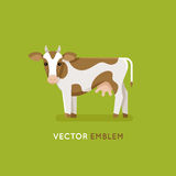 Cow - concept for milk and dairy industry Stock Photography