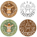 Cow craft beer hipster  restaurant negative space concept  Stock Images