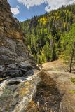 Cow Creek above Bridal Veil Falls in Autumn Stock Photography