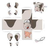 A cow cube.Toy for assemblage Royalty Free Stock Image