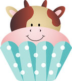 Cow Cupcake Royalty Free Stock Photo