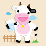Cow Cute Character Cartoon Design Vector Royalty Free Stock Image