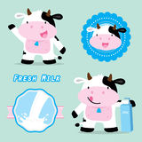 Cow Cute Character Cartoon Design Vector Royalty Free Stock Images