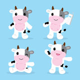 Cow Cute Character Cartoon Design Vector Stock Images