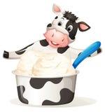 Cow with dairy ice cream Stock Photo