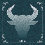 Cow,Decorative painting Stock Images