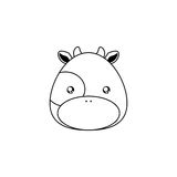 Cow Drawing Face Stock Photo