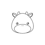 Cow Drawing Face Royalty Free Stock Photo