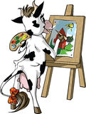 Cow draws Stock Photos