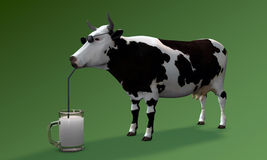 Cow drinking milk Stock Photography