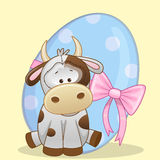 Cow with egg Stock Photography