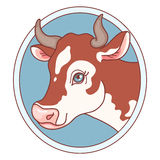 Cow emblem Stock Photo